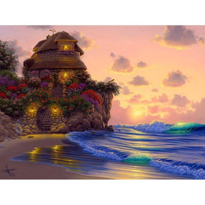 5D Diamond Painting Secret Cottage by the Sea Kit