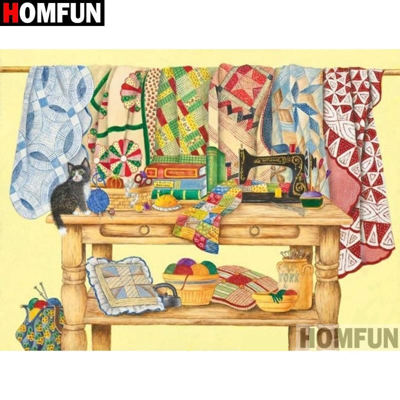 5D Diamond Painting Sewing Bench Kit