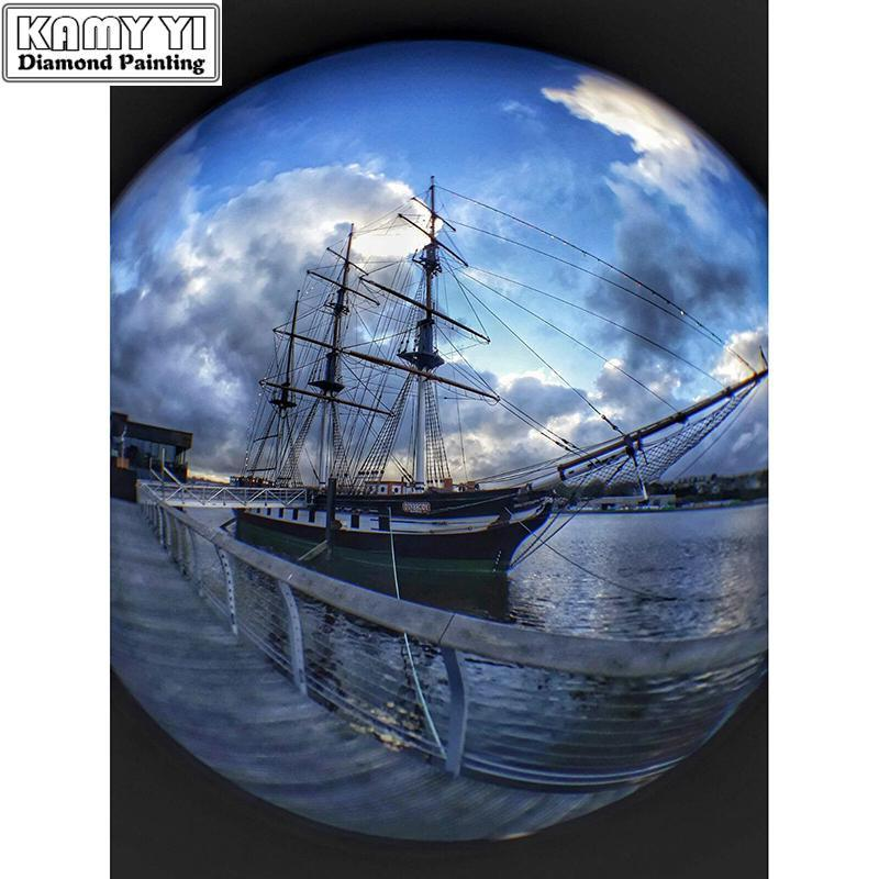 5D Diamond Painting Ship Sphere Kit
