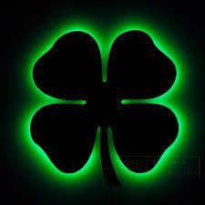 5D Diamond Painting Silhouette of Four Leaf Clover Kit