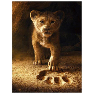 5D Diamond Painting Simba Footprint Kit
