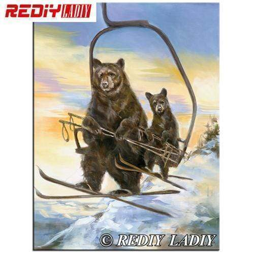5D Diamond Painting Ski Bears Kit