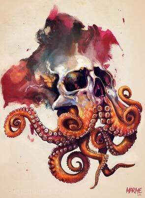 5D Diamond Painting Skull Octopus Kit