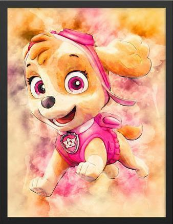 5D Diamond Painting Skye from Paw Patrol Kit