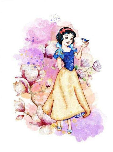 5D Diamond Painting Snow White and a Bird Kit