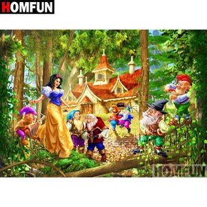 5D Diamond Painting Snow White and The Dwarfs Kit