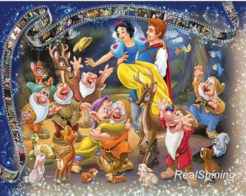5D Diamond Painting Snow White and the Seven Dwarfs Kit