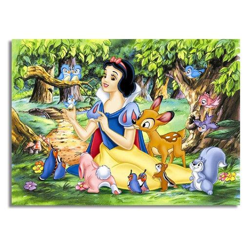 5D Diamond Painting Snow White and Woodland Animals Kit