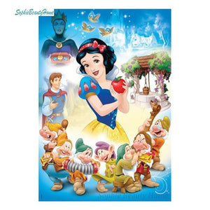 5D Diamond Painting Snow White Collage Kit
