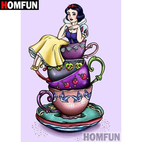 5D Diamond Painting Snow White Tea Cup Kit