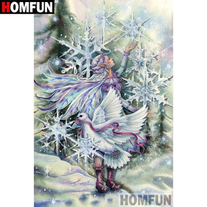 5D Diamond Painting Snowflake Pixie Kit