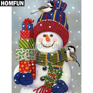 5D Diamond Painting Snowman Gifts Kit