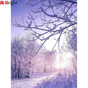 5D DIamond Painting Snowy Branches Kit