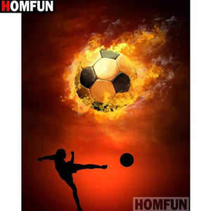 5D Diamond Painting Soccer Player Silhouette Kit