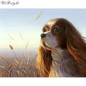 5D Diamond Painting Spaniel on The Lake Shore Kit