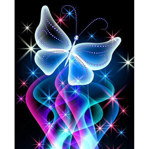 5D Diamond Painting Sparkling Butterfly Kit