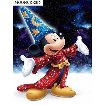 5D Diamond Painting Sparkling Wizard Mickey Kit