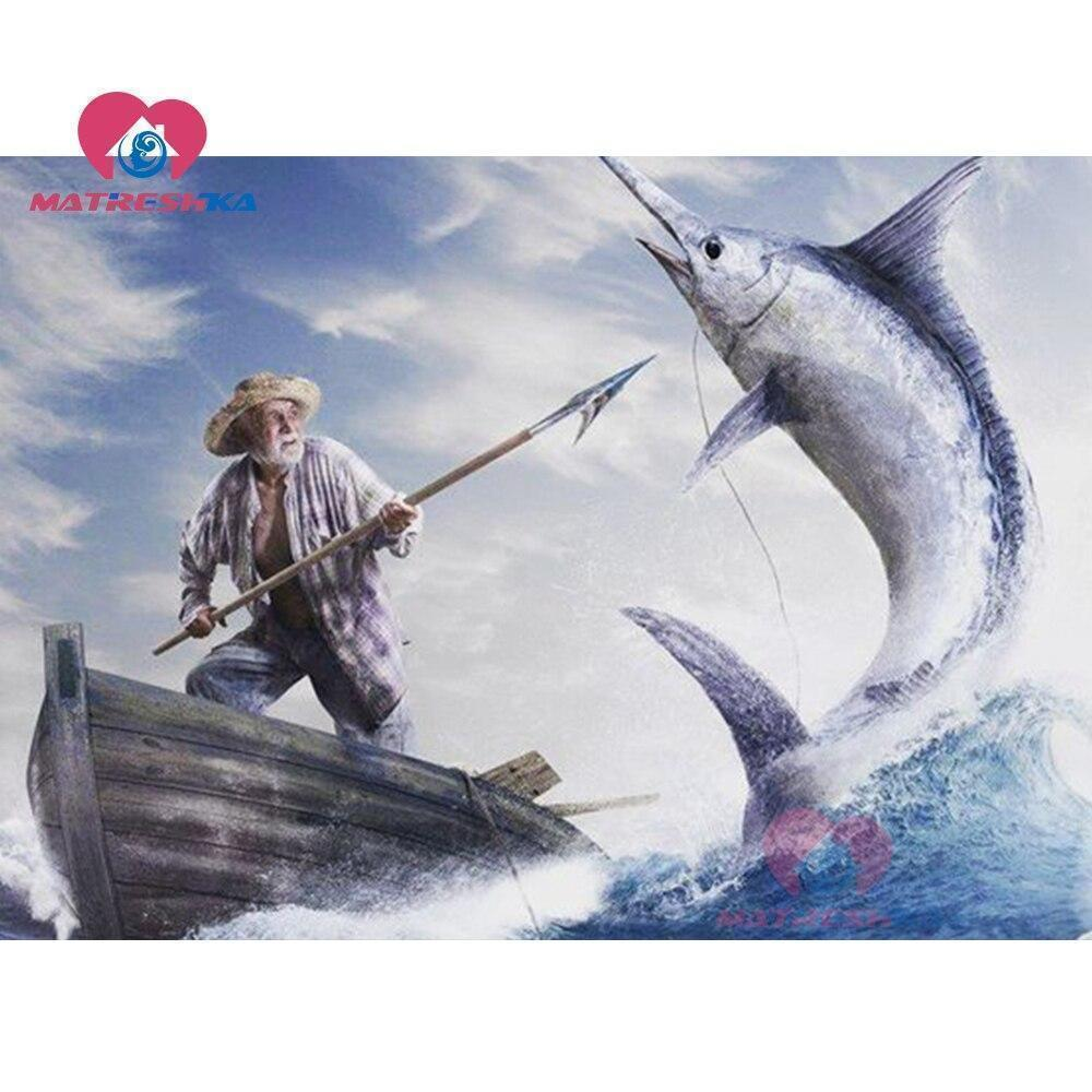 5D Diamond Painting Spear Fishing Kit