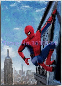 5D Diamond Painting Spiderman Building Side Kit