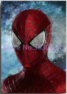 5D Diamond Painting Spiderman Profile Kit