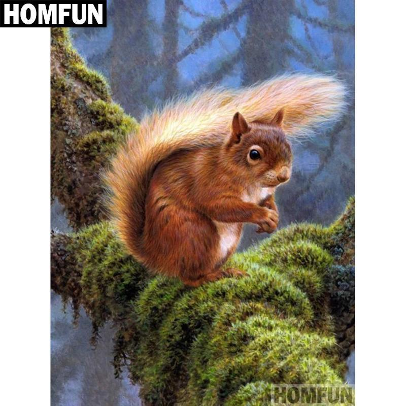 5D Diamond Painting Squirrel Kit