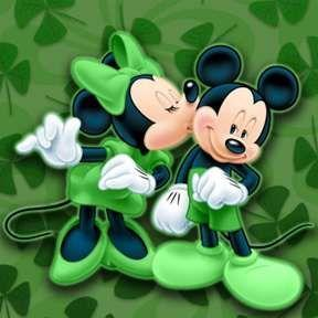 5D Diamond Painting St. Patrick Mickey & Minnie Mouse Kit