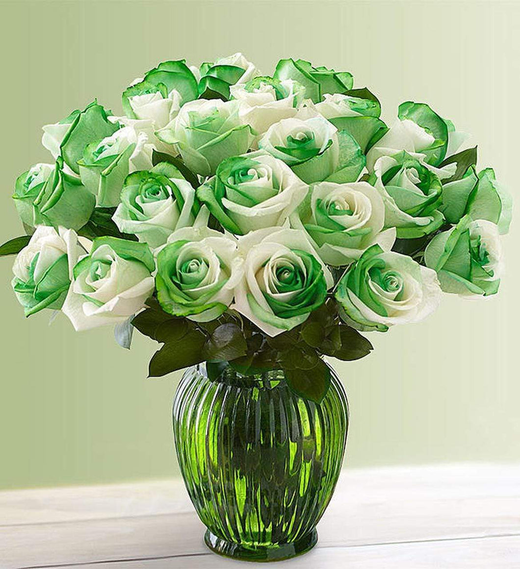 5D Diamond Painting St. Patrick's Day Roses Kit