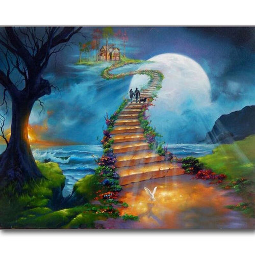 5D Diamond Painting Stairway to Heaven Cabin Kit