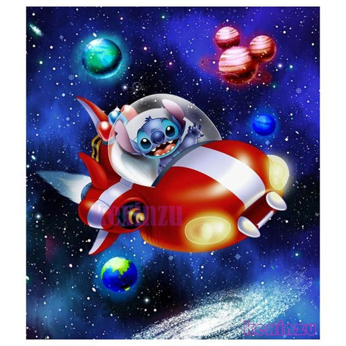 5D Diamond Painting Stitch Space Ship Kit
