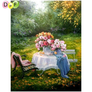 5D Diamond Painting Table Flower Centerpiece Kit