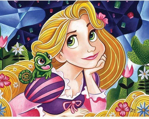 5D Diamond Painting Tangled Rapunzel and Pascal Kit