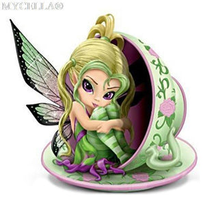 5D Diamond Painting Tea Cup Fairy Kit
