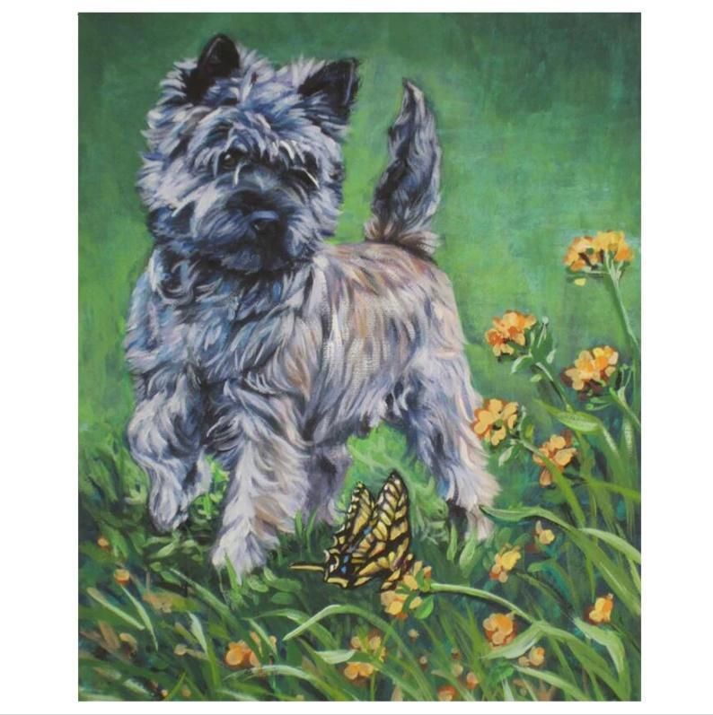 5D Diamond Painting Terrier and a Butterfly Kit