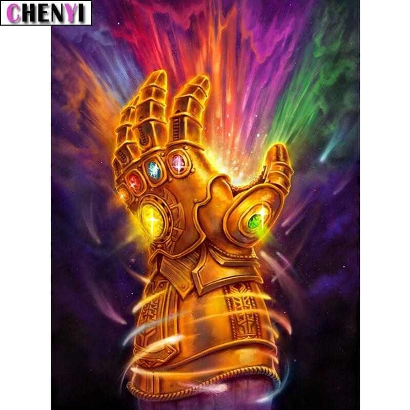 5D Diamond Painting Thanos Infinity Gauntlet Kit
