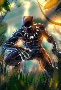 5D Diamond Painting The Black Panther in the Jungle Kit