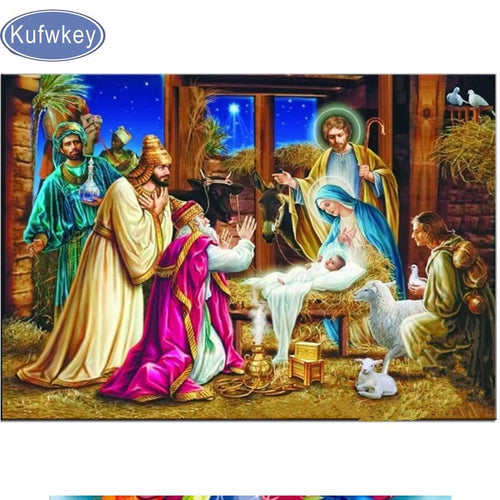 5D Diamond Painting The First Christmas Kit