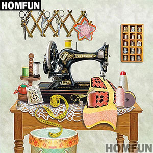 5D Diamond Painting Thimble Sewing Room Kit