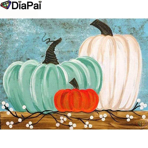 5D Diamond Painting Three Abstract Pumpkins Kit