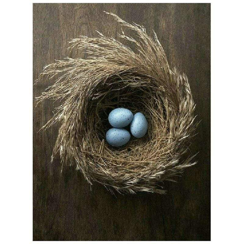 5D Diamond Painting Three Blue Eggs Kit