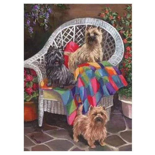 5D Diamond Painting Three Cairn Terriers Kit