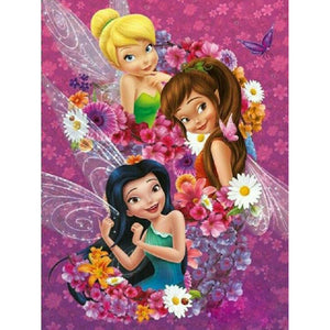 5D Diamond Painting Three Disney Fairies Kit