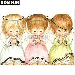 5D Diamond Painting Three Little Angels Kit