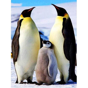 5D Diamond Painting Three Penguins Kit