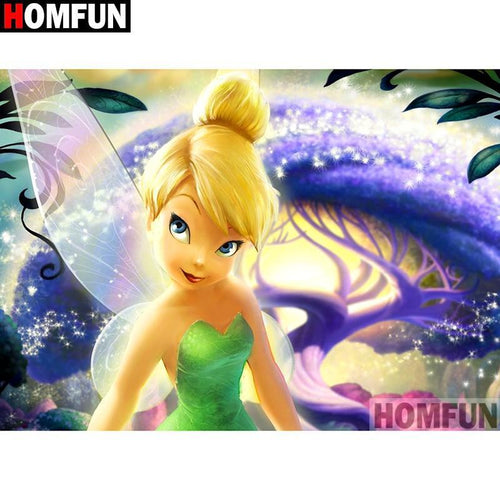 5D Diamond Painting Tinkerbell and the Purple Tree Kit