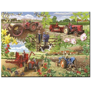 5D Diamond Painting Tractor Collage Kit
