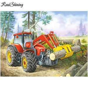 5D Diamond Painting Tractor Kit