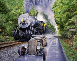 5D Diamond Painting Train Race Kit