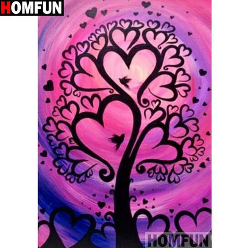 5D Diamond Painting Tree Heart Branches Kit