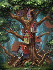 5D Diamond Painting Tree Houses Kit