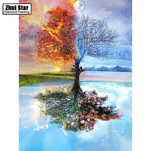 5D Diamond Painting Tree of Seasons Kit